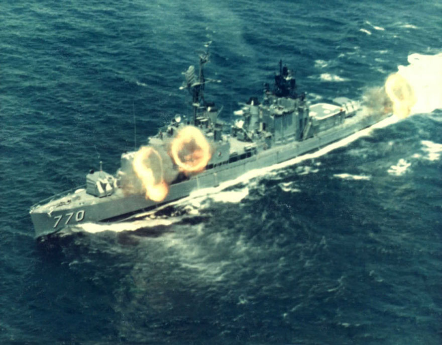 six gun salvo in Tokin Gulf 1968